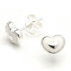 Hjerte ørestikker i sølv