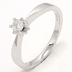 Diamant hvittgullsring i 14 karat hvitt gull 0,20 ct