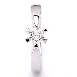 Vakker diamant hvittgullsring i 14 karat hvitt gull 0,30  ct
